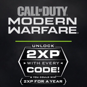 1X 1 Hour 2XP Double XP Codes COD Modern Warfare