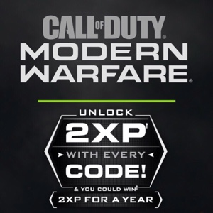 3X 1 Hour 2XP Double XP Codes COD Modern Warfare