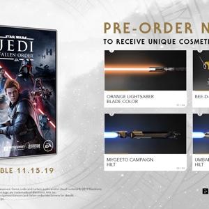 Star Wars : Jedi Fallen Order Preorder Bonuses Xbox One