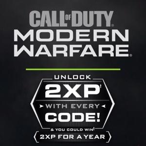 5X 1 Hour 2XP Double XP Codes COD Modern Warfare