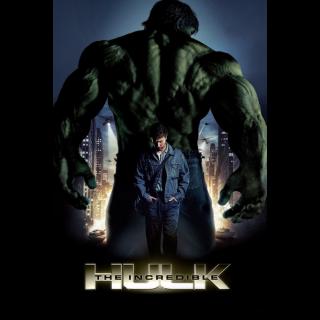 The Incredible Hulk   4K at VUDU or MA