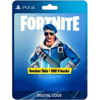 Fortnite Royale Bomber + 500 V-Bucks | PS4 Only | Region 3 (Asia)