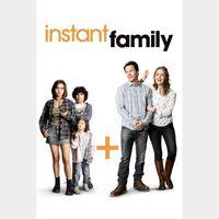 Instant Family (FULL CODE, HD Vudu & iTunes)