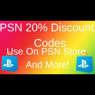 Code | PSN Store 20% Off Code