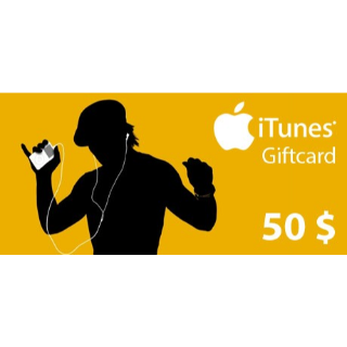$50.00 iTunes Giftcard