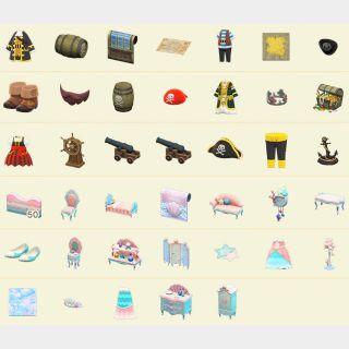 Bundle | 40 MERMAID/PIRATE items!