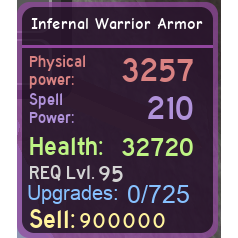 Other | DQ INFERNAL WARRIOR ARMO