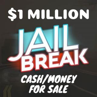 $1 Million ($1,000,000) Jailbreak Cash/Money - Roblox