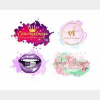 I will design feminine hand drawn watercolor logo