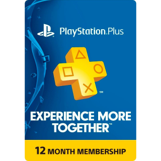 PlayStation Plus 12 month (USA)