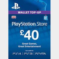 £40.00 PlayStation Store
