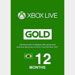 Xbox Live Gold 12 Month (BRAZIL)