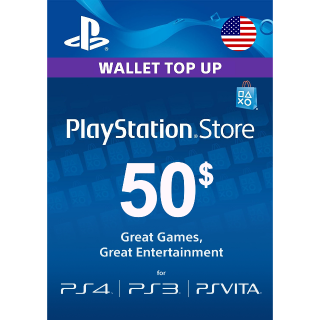 $50.00 PlayStation Store (United States)