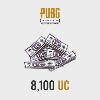 PUBG Mobile - 8100 UC