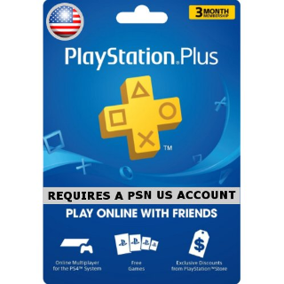 PlayStation Plus 3 month (USA)
