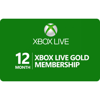 12 Month Xbox Live Gold (Global)
