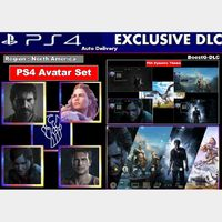 PS4 Exclusives Iconics  Dynamic Theme |Avatar Bundle |  Last of us Part 2 - God of War- Uncharted 4 | US Instant Delivery