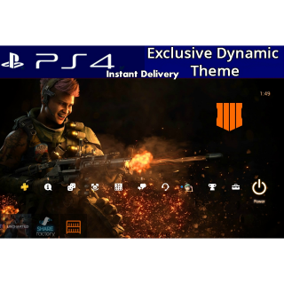 Call of Duty Black Ops 4 Dynamic Theme PS4 US Instant Delivery