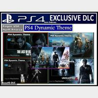 PS4 Exclusives Iconics Dynamic Theme | The Last of Us Part II - God of War - Uncharted 4 | US Instant Delivery