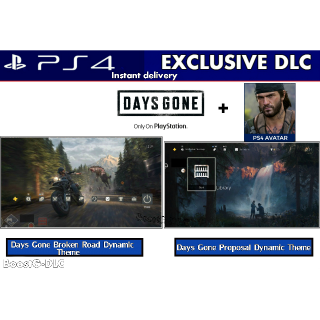 Days Gone   PS4 DLC  2 Dynamic Theme   Avatar Pack  - PS4 US Instant Delivery