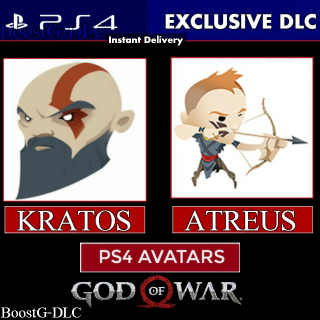 God of War PS4 Avatar Bundle|Digital Code - USA