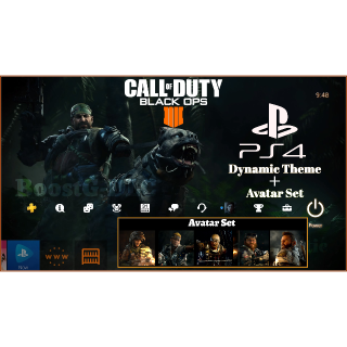 Call of Duty Black Ops 4 | Dynamic Theme & Avatars | PS4 US Instant Delivery