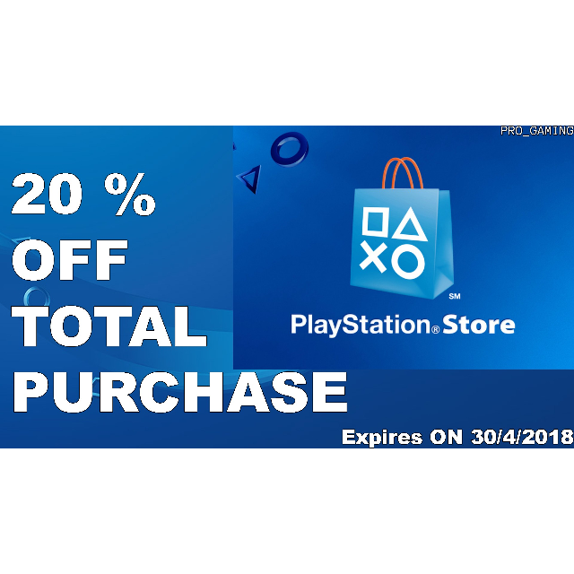 discount code 20 playstation store 20 percent discount