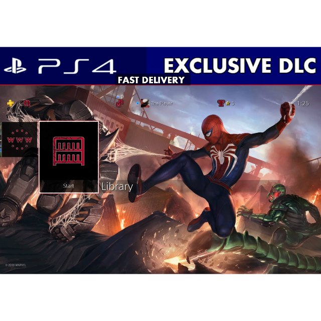 Marvels Spider Man Exclusive Battle Theme PS4 [Digital Code]