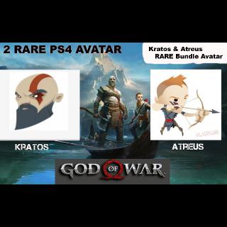 GOTY 2018 '' God of War '' Kratos & Atreus  Bundle Avatar - Digital Codes - US Region  Instant Delivery
