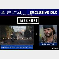 Days Gone Exclusive PS4 Dynamic Theme + Deacon Avatar |DLC|PS4 US Instant Delivery