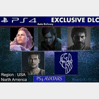 PS4 Exclusives Iconics Avatar Bundle |  The Last of us 1&2 - God of War - Uncharted 4 | US Instant Delivery