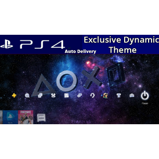Symbols in the Stars Dynamic Theme - PS4 US Instant Delivery