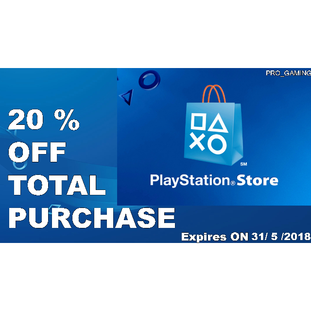 20% off Total Purchase Discount Code PS Store - PS4 Games