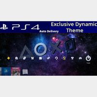 Symbols in the Stars Dynamic Theme - PS4 UK Instant Delivery ( Europe )