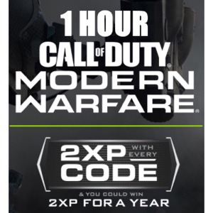 2XP Modern Warfare 1 hour | INSTANT