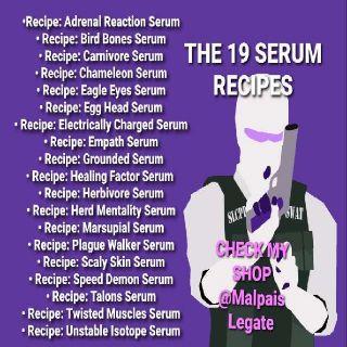 Plan   The 19 Serum Recipes Set