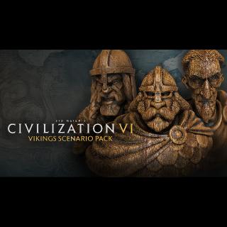 Civilization VI - Vikings Scenario Pack Steam EU INSTANT!!!!