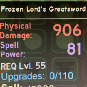Other | Frozen Lord's Greatsword