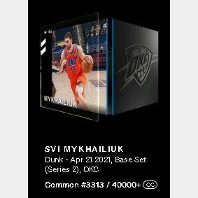 Svi Mykhailiuk Dunk - Apr 21 2021, Base Set (Series 2)