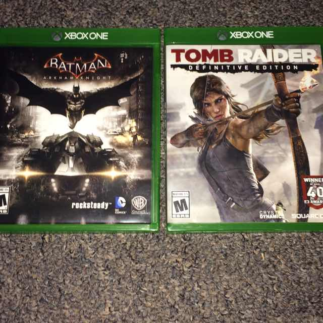 Batman Arkham Knight Tomb Raider Definitive Edition Xbox One