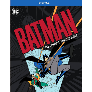 BATMAN THE COMPLETE ANIMATED 90'S SERIES (HD DIGITAL CODE) VUDU INSTANT DELIVERY
