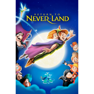 DISNEY PETER PAN 2 RETURN TO NEVER LAND NEVERLAND (HD DIGITAL CODE) VUDU, MOVIESANYWHERE