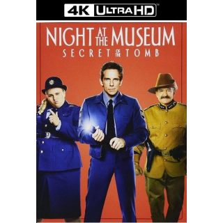 NIGHT AT THE MUSEUM 3 SECRET OF THE TOMB (4K ULTRA HD UHD DIGITAL CODE) ITUNES INSTANT DELIVERY