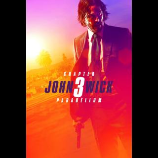 JOHN WICK 3 CHAPTER 3 PARABELLUM (4K UHD DIGITAL CODE) ITUNES INSTANT DELIVERY