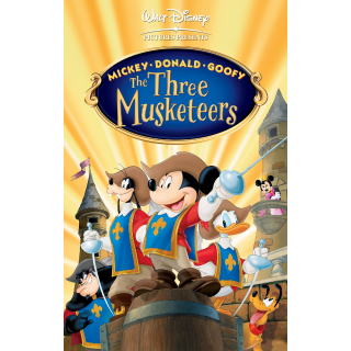 DISNEY MICKEY MOUSE DONALD DUCK GOOFY THE THREE MUSKETEERS (HD DIGITAL CODE) VUDU, ITUNES, MOVIESANYWHERE INSTANT DELIVERY