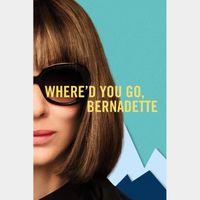WHERE'D YOU GO BERNADETTE (HD DIGITAL CODE) VUDU, MOVIESANYWHERE INSTANT DELIVERY