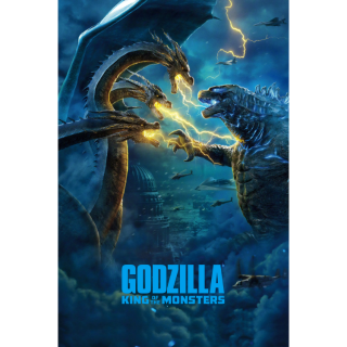 GODZILLA KING OF THE MONSTERS (2019) (HD DIGITAL CODE) VUDU, MOVIESANYWHERE INSTANT DELIVERY