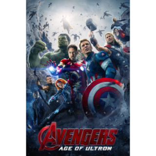 AVENGERS AGE OF ULTRON (HD DIGITAL CODE) ( VUDU, ITUNES, MOVIESANYWHERE INSTANT DELIVERY)