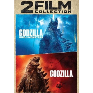 GODZILLA  2014 & KING OF THE MONSTERS 2 FILM COLLECTION (HD DIGITAL CODE) VUDU, MOVIESANYWHERE INSTANT DELIVERY