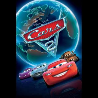 DISNEY PIXAR'S CARS 2 (HD DIGITAL CODE) VUDU, ITUNES, MOVIESANYWHERE INSTANT DELIVERY